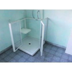 Mampara de ducha especial para discapacitados 90x98 5 for Duchas para discapacitados