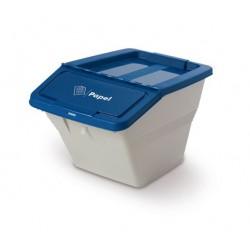 Contenedor de reciclaje apilable de 35 litros de capacidad