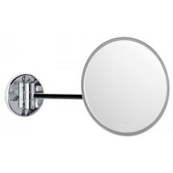 Espejo de aumento una cara 18cm de diametro un brazo acabado cromado