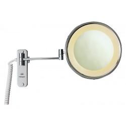Espejo de aumento eco con iluminación LED dos brazos X3 aumentos acabado cromo