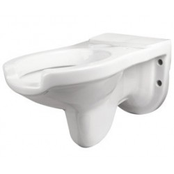Inodoro suspendido para discapacitados de porcelana vitrificada blanca