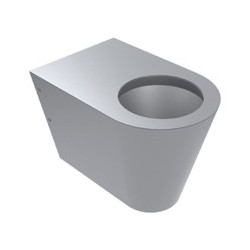 inodoro infantil fabricado en acero inoxidable satinado