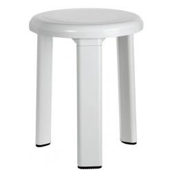 Banqueta 3-patas fabricada en ABS blanco