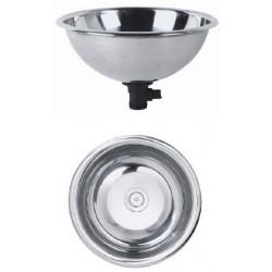 Lavabos de acero inoxidable komercia for Encimera acero inoxidable