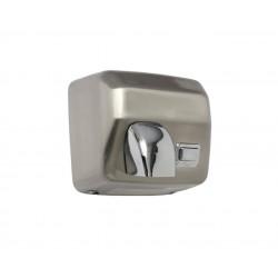 Secamanos de acero inoxidable satinado con pulsador