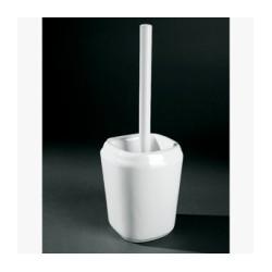 Escobillero fabricado en porcelana vitrificada blanca