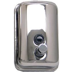Dosificador de jabón de acero inoxidable brillante de 500ml de capacidad