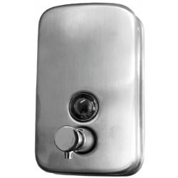 Dosificador de jabón de acero inoxidable satinado de 800 ml de capacidad