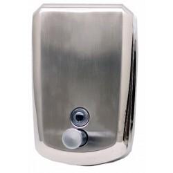 Dosificador de jabón de acero inoxidable brillante de 1200 ml de capacidad