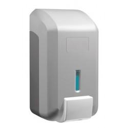Dosificador de jabón en espuma de ABS acabado plata de 800ml de capacidad
