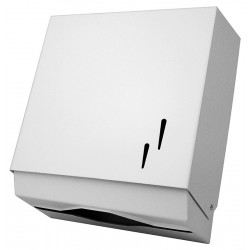 "Dispensador de toallitas ""z"" fabricado en acero acabado lacado blanco"