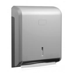 """Dispensador de toallitas """"z"""" de ABS plata"""