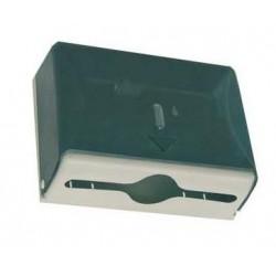 "Dispensador de toallitas ""z"" de ABS y fibra de vidrio tranparente"