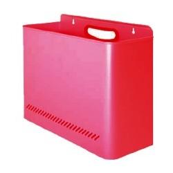 Papelera a pared de acero galvanizado epoxy 11 litros de capacidad