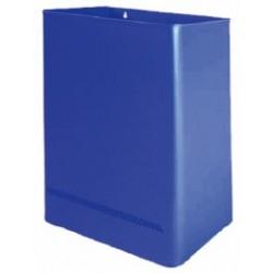 Papelera a pared de acero galvanizado acabado epoxy color de 25 litros de capacidad