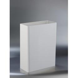 Papelera a pared de acero inoxidable lacado color de 25 litros de capacidad