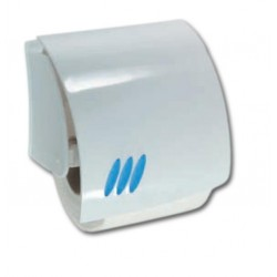 Portarrollos fabricado en ABS acabado blanco y azul serie 2100