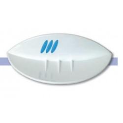 Jabonera fabricada en ABS acabado blanco y azul serie 2100