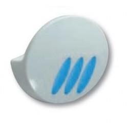 2 perchas fabricadas en ABS acabado blanco y azul serie 2100
