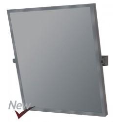 Espejo reclinable especial para discapacitados con marco de acero acabado lacado blanco medida 50X70cm.