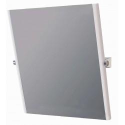 Espejo reclinable especial para discapacitados con marco a los lados de acero cincado con recubrimiento de nylon medida 50X70cm.