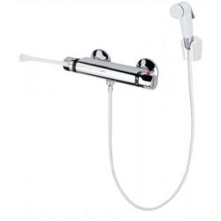 Grifo mezclador termostático para ducha con maneta gerontológica.