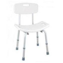 Silla para baño, con asiento regulable en altura de 40 a 50 cm.