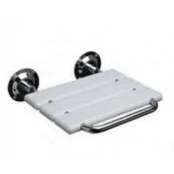 Asiento abatible a pared fabricado en acero inoxidable AISI304 y ABS .