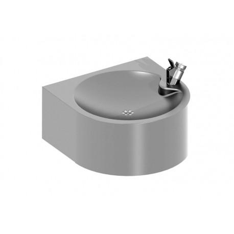 Fuente de agua mural de acero inoxidable satinada