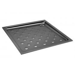 Plato de ducha de acero inoxidable satinado 70x70x8cm