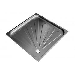 Plato de ducha de acero inoxidable satinado de 80x80x5,5cm