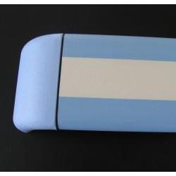 Pasamanos paragolpes dos colores de aluminio con recubrimiento de pvc