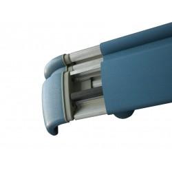 Pasamanos-Paragolpes anatómico de aluminio con recubrimiento de pvc