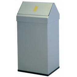 Papelera acero galvanizado epoxy tapa basculante capacidad 41 litros