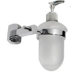 Dosificador de jabón líquido fabricado en latón cromado