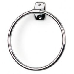 Toallero aro de 17cm de diametro fabricado en acero cromado acabado brillante
