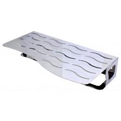 Toallero repisa con dos niveles de acero inoxidable AISI304 acabado brillante