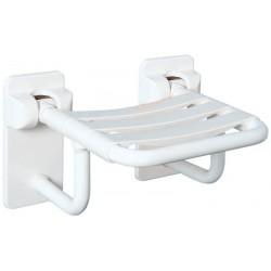 Asiento abatible placa trasera fabricado en acero de 2,5mm recubrimiento de PVC flexible 3mm medida 35x35cm.