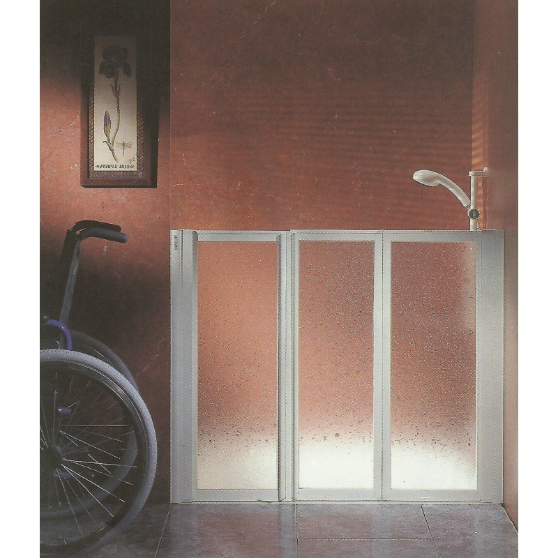 Mampara de ducha plegable para discapacitados 80x80cm - Mamparas ducha plegables ...