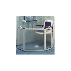 Mampara móvil con tres puertas especial para discapacitados