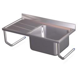 Fregadero colgante con palomillas fabricado en acero inoxidable